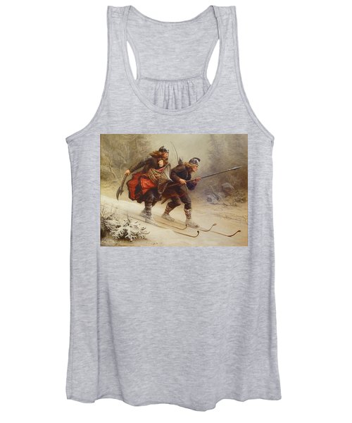 Skiing Birchlegs Crossing The Mountain With The Royal Child Women's Tank Top