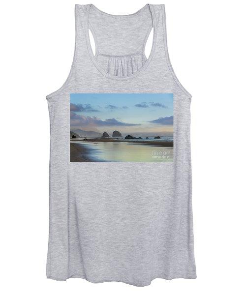 Skimming Along The Beach At Sunset Women's Tank Top