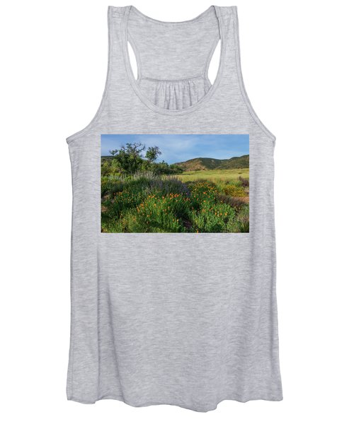 Sleeping Poppies, Mission Trails Women's Tank Top