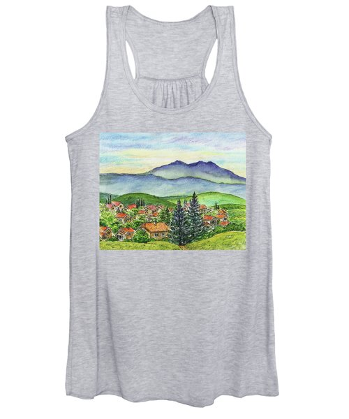 Small Town Mountains And Hills Women's Tank Top