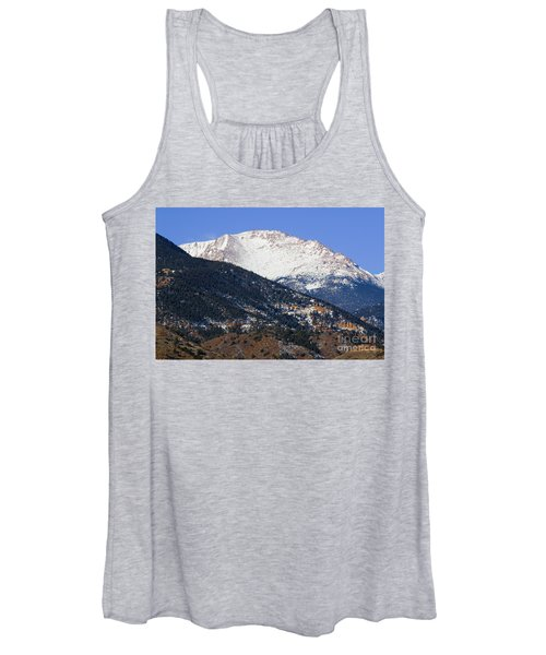 Snow Capped Pikes Peak In Winter Women's Tank Top