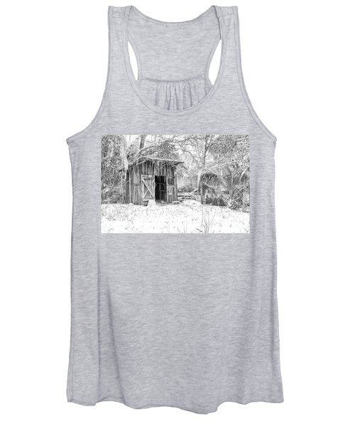 Snow Covered Chicken House Women's Tank Top