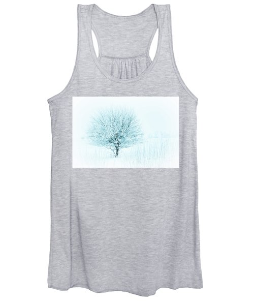 Snow Field Tree Women's Tank Top