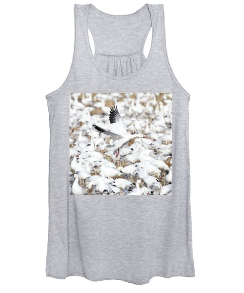 Snow Goose Lift-off Women's Tank Top