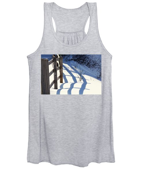 Snow, Sun And Shadows Women's Tank Top