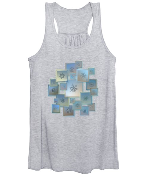 Snowflake Collage - Bright Crystals 2012-2014 Women's Tank Top