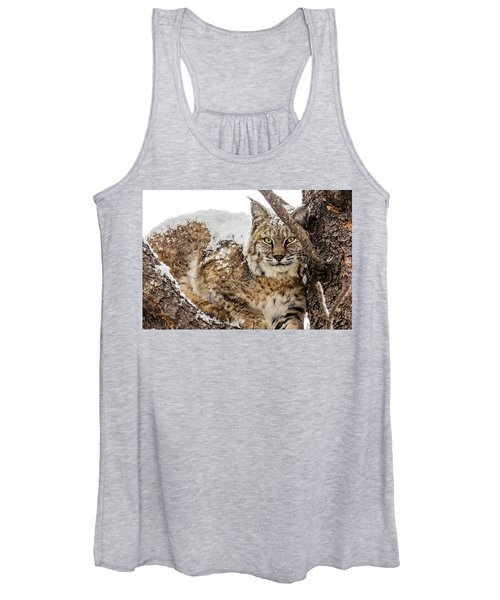 Snowy Bobcat Women's Tank Top