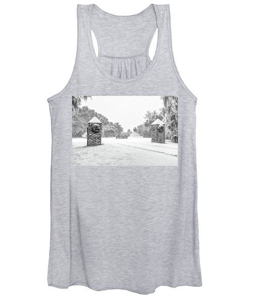 Snowy Gates Of Chisolm Island Women's Tank Top