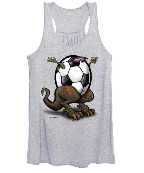 Soccer Saurus Rex Women's Tank Top