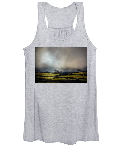 Women's Tank Top featuring the photograph Solar Eclipse Over County Clare Countryside by James Truett