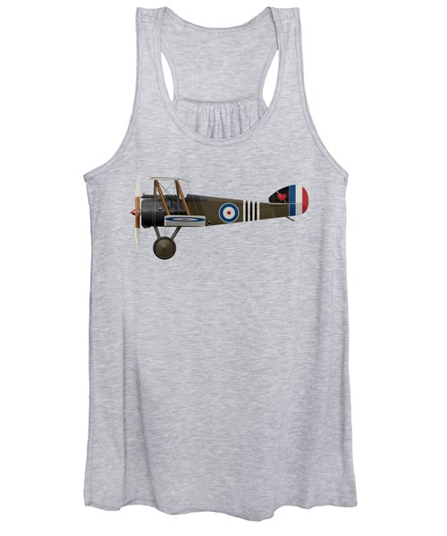 Sopwith Camel - B6313 June 1918 - Side Profile View Women's Tank Top