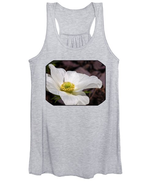 Sparkling White Anemone Women's Tank Top