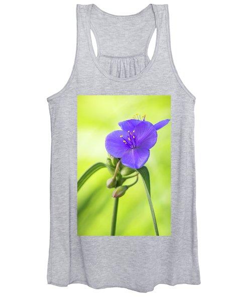 Spiderwort Wildflower Women's Tank Top