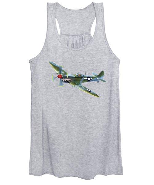 Spitfire Over Hawaii Women's Tank Top