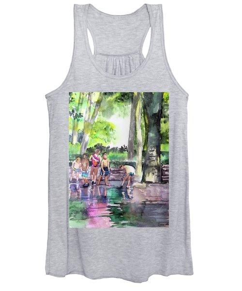 Splash In Battery Park Women's Tank Top