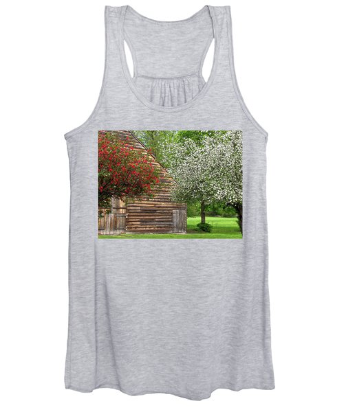 Spring Flowers And The Barn Women's Tank Top