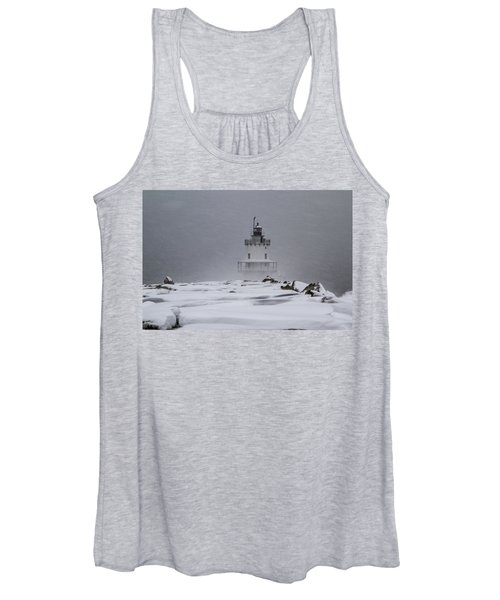 Spring Point Ledge Lighthouse Blizzard Women's Tank Top