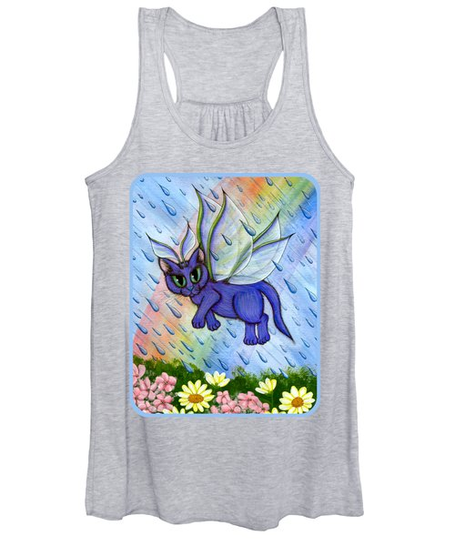 Spring Showers Fairy Cat Women's Tank Top