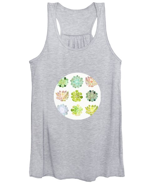 Spring Succulents Women's Tank Top