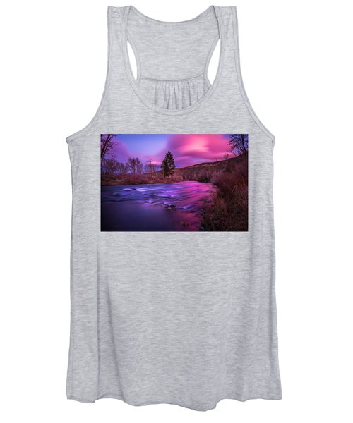 Spring Sunset Along The Truckee River Reno Nevada Women's Tank Top