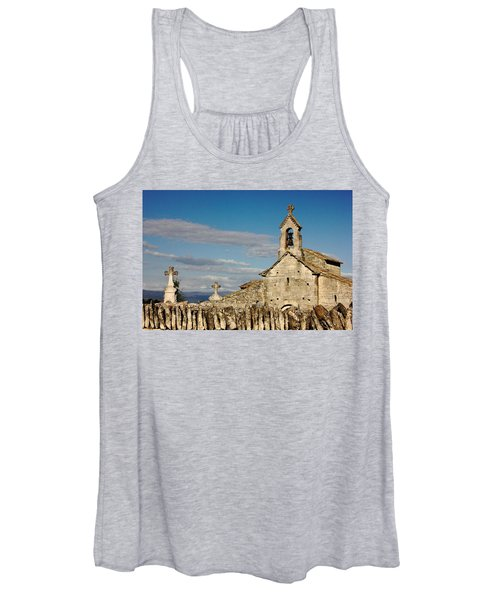 St. Pantaleon Church,  Luberon, France Women's Tank Top