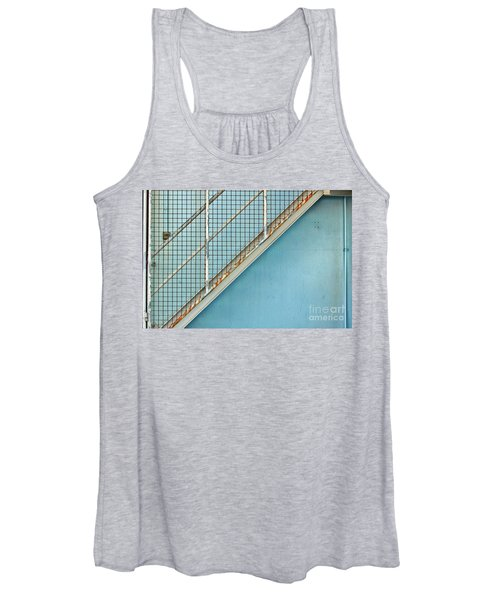 Stairs On Blue Wall Women's Tank Top