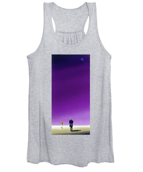 Standing Alone Waiting For The Bowling Balls To Fall When Night Comes Women's Tank Top
