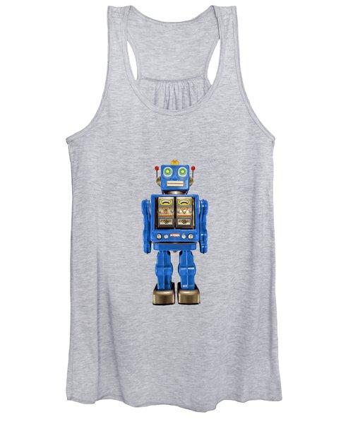 Star Strider Robot Blue Women's Tank Top