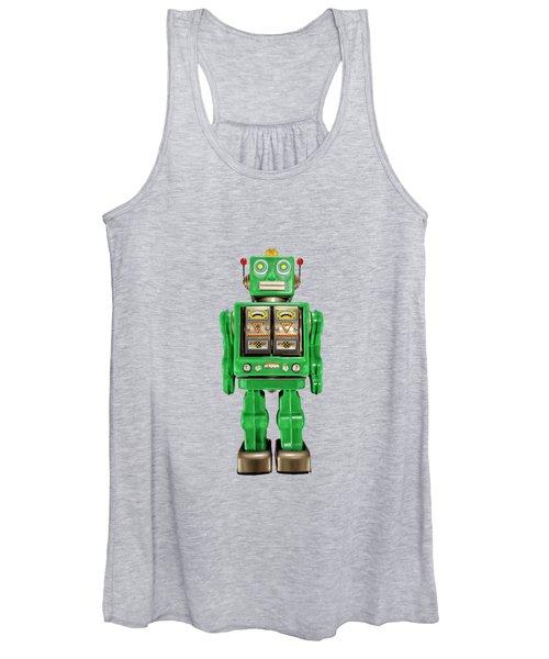 Star Strider Robot Green Women's Tank Top