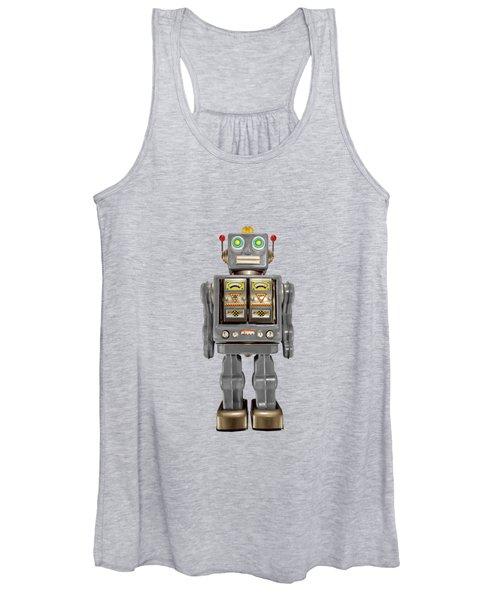 Star Strider Robot Grey Women's Tank Top
