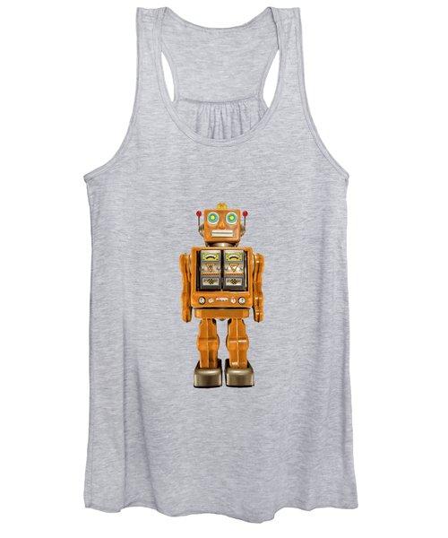 Star Strider Robot Orange Women's Tank Top
