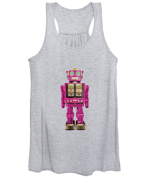 Star Strider Robot Pink Women's Tank Top