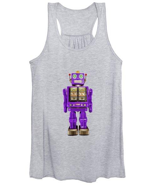 Star Strider Robot Purple Women's Tank Top