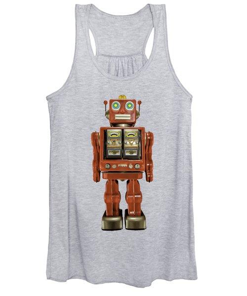 Star Strider Robot Red Women's Tank Top