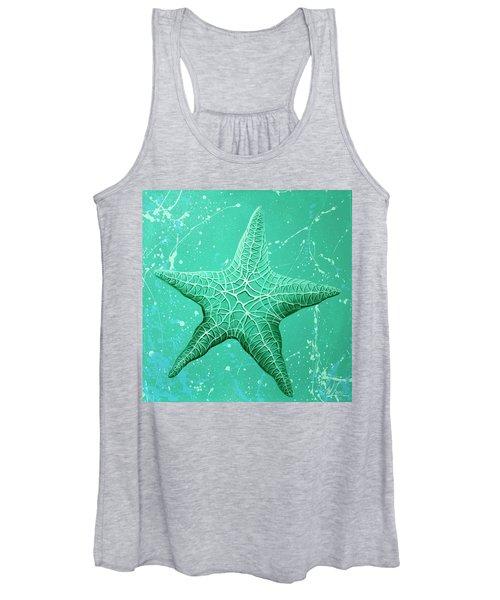 Starfish In Teal Women's Tank Top