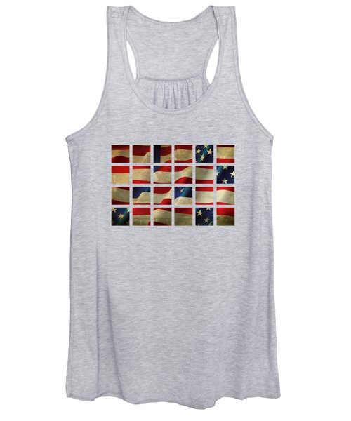Stars And Stripes And Squares Women's Tank Top