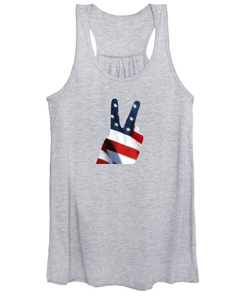Stars And Stripes Peace Sign .png Women's Tank Top
