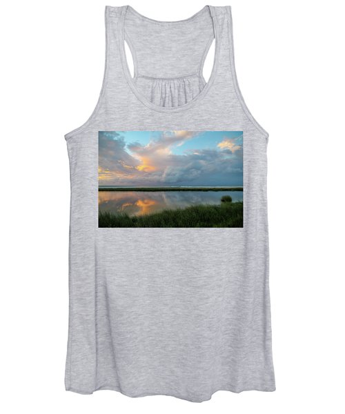 Storm Cloud Reflections At Sunset Women's Tank Top