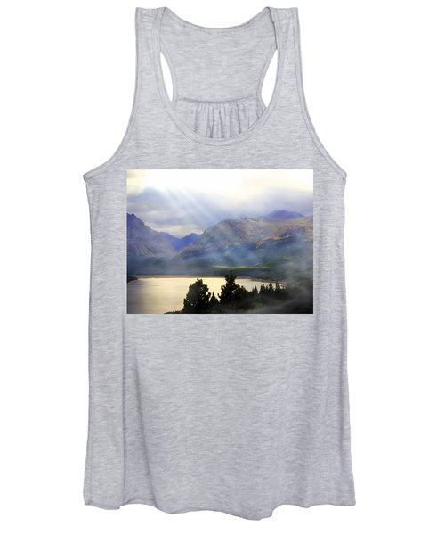 Storms A Coming-lower Two Medicine Lake Women's Tank Top