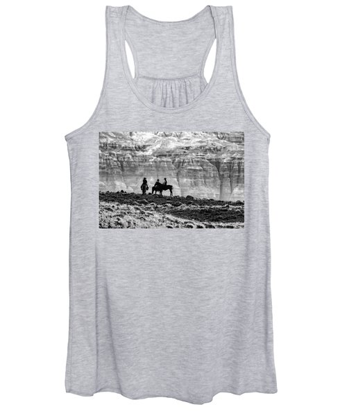 Strategy Meeting In Black And White Women's Tank Top