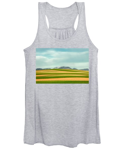 Stripes Of Crops Women's Tank Top