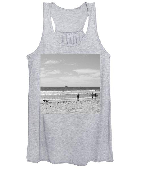 Strollin On Dog Beach Women's Tank Top
