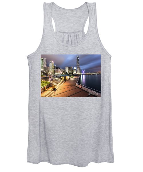 Stunning View Of Hong Kong Central Business District Skyscrapers Women's Tank Top