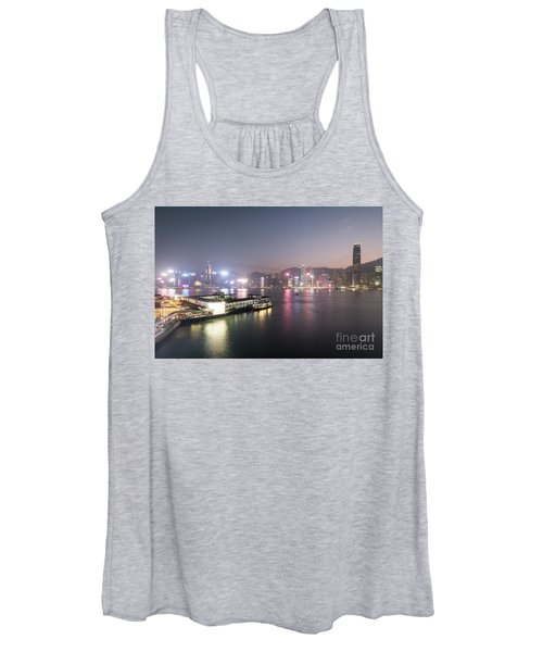 Stunning View Of The Twilight Over The Victoria Harbor And Star  Women's Tank Top