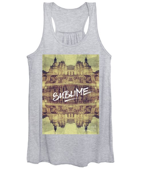Sublime Fontainebleau Chateau France French Architecture Women's Tank Top