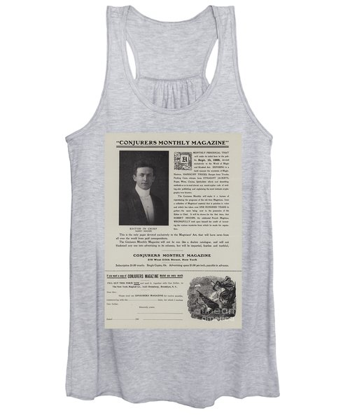 Subscription Form For Conjurers Monthly Magazine, Editor In Chief Harry Houdini, Circa 1906 Women's Tank Top