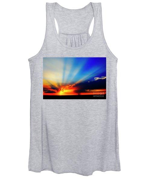 Sun Rays Women's Tank Top