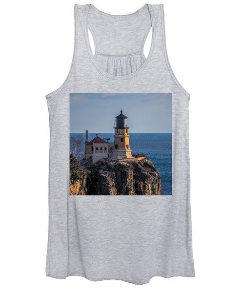 Sunlight On Split Rock Lighthouse Women's Tank Top