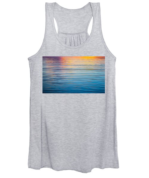 Sunrise Abstract On Calm Waters Women's Tank Top