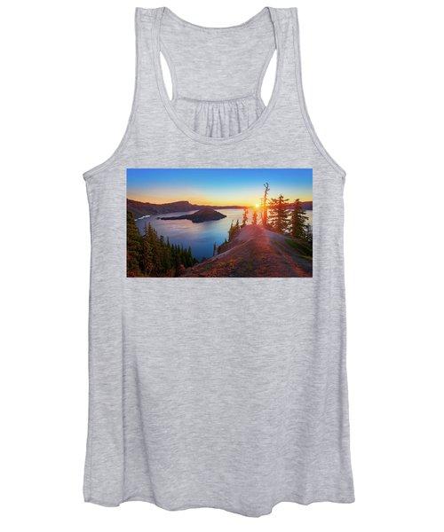 Sunrise At Crater Lake Women's Tank Top
